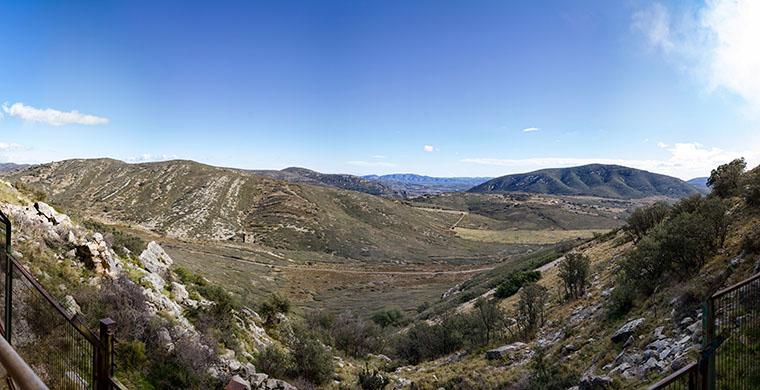 Vista del paisatge des de Cova Centelles