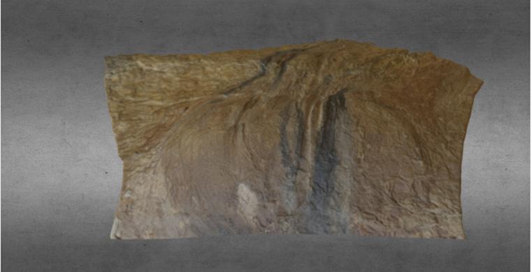 Modelo 3D del sector izquierdo de Cova dels Cavalls, color real