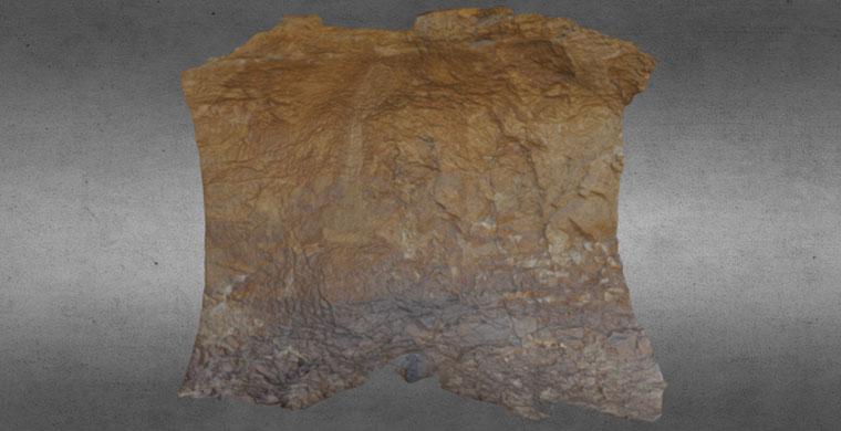 Modelo 3D del sector derecho de Cova dels Cavalls, color real