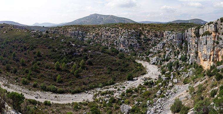Vista panorámica desde Cova dels Cavalls.