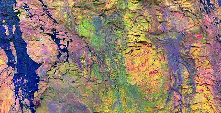 Whole panel of Shelter IX of Cingle de Gassulla, false color