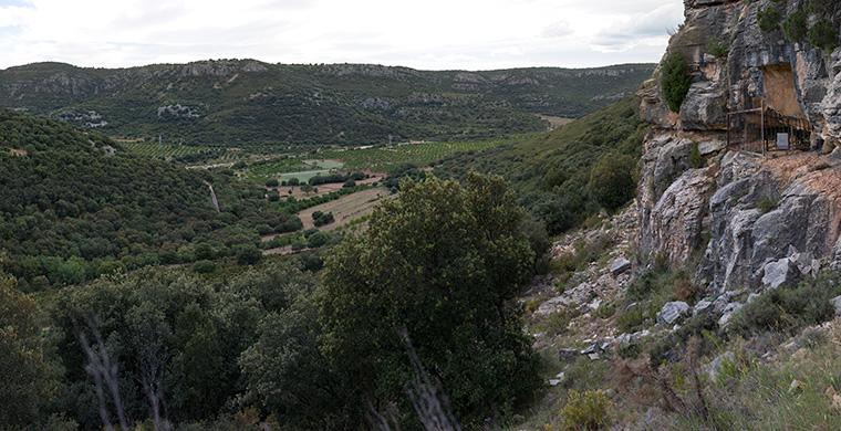 Panoramic view from Les Dogues.