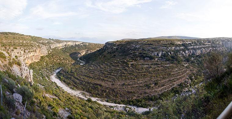 Vista del paisaje desde Mas d'en Josep