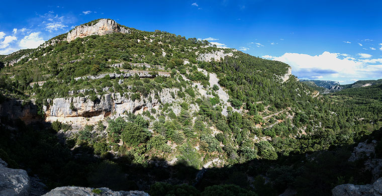 Panoramic from the top of Racó de Nando.