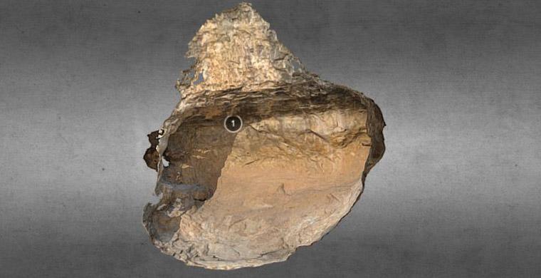 Modelo 3D del Raco de Nando, abrigo VII